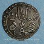 Münzen Tunisie. Ottomans. Mahmoud II (1223-1255H). Kharub 1253H. Tunis