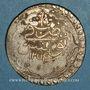 Münzen Tunisie. Ottomans. Mahmud II (1223-1255H). Piastre 1254H. Tunis