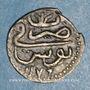 Münzen Tunisie. Ottomans. Mustafa III (1171-1187H). Kharub 1176H. Tunis