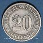 Münzen Allemagne. 20 pfennig 1890 D