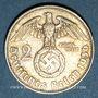 Münzen Allemagne. 3e Reich. 2 reichsmark 1936D. Hindenbourg