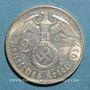 Münzen Allemagne. 3e Reich. 2 reichsmark 1937G. Hindenbourg