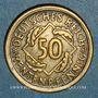 Münzen Allemagne. République de Weimar. 50 rentenpfennig 1924 D