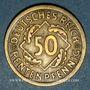 Münzen Allemagne. République de Weimar. 50 rentenpfennig 1924A