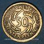 Münzen Allemagne. République de Weimar. 50 rentenpfennig 1924F