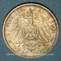 Münzen Wurtemberg. Guillaume II (1891-1918). 3 mark 1911F. Noces d'argent