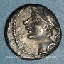 Münzen Allobroges. Région du Dauphiné. Denier, à l'hippocampe, 1er s. av. J-C