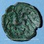 Münzen Ambiani. Bronze aux deux animaux affrontés, vers 60-25 av. J-C