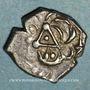 Münzen Cadurques. Région de Cahors. Drachme à la tête triangulaire, 1er siècle av. J-C