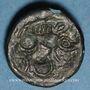 Münzen Calètes. Pays de Caux. Bronze au monstre enroulé, 1er siècle av. J-C