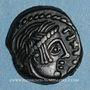 Münzen Carnutes (région de Chartres). Pixtilos (vers 40-30 av. J-C). Bronze au temple, classe VIII