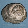 Münzen Coriosolites. Côtes du Nord. Statère de billon au nez droit. 1ère moitié du 1er siècle av. J-C