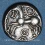 Münzen Eduens. Bourgogne. Quinaire, classe II, 1er siècle av. J-C