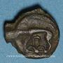 Münzen Leuques. Région de Toul. 2e moitié du 1er siècle av. J-C. Potin, classe Ic avec sanglier à gauche