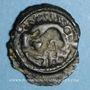 Münzen Lingones. Région de Langres. Oyindia. Potin à la tête janiforme, 2e - 1er siècle av. J-C