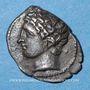 Münzen Marseille (125-75 av. J-C). Obole à l'Apollon sans favoris