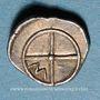 Münzen Marseille (425-400 av. J-C). Obole à la légende MASALI