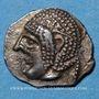 Münzen Marseille (460-440 av. J-C). Hémiobole milésiaque au crabe
