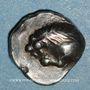 Münzen Marseille (500-470 av. J-C). Obole phocaïque au lion dévorant une proie