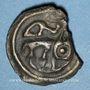 Münzen Rémi. Région de Reims. Potin au guerrier courant, vers 58-48 av. J-C