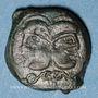 Münzen Suessiones. Région de Soissons. Bronze à la tête janiforme, vers 60-30/25 av. J-C