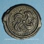 Münzen Suessiones. Région de Soissons. Potin à la svastika, 2e -1er siècle av. J-C