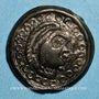 Münzen Suessiones. Région de Soissons. Potin au grand profil, 2e -1er siècle av. J-C