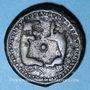 Münzen Suessiones. Région de Soissons. Potin aux deux animaux affrontés, 1er siècle av. J-C