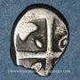 Münzen Volques Tectosages. Région de Toulouse. Drachme à la tête cubiste, 1er siècle av. J-C