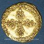 Münzen Charles IX (1560-1574). Ecu d'or au soleil 1566 K et nef, Bordeaux (date latine)