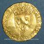 Münzen François I (1515-1547). Ecu d'or à la croisette, 1er type. Bayonne (L et ancre)
