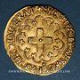 Münzen François I (1515-1547). Ecu d'or à la croisette, 1er type. Rouen