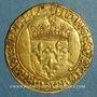 Münzen François I (1515-1547). Ecu d'or au soleil, 2 type, 3e émission. Lyon (point 12e)