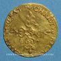Münzen Louis XIII (1610-1643). Ecu d'or au soleil, 1er type. 1615 S. Troyes