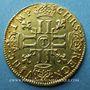 Münzen Louis XIV (1643-1715). Louis d'or à la mèche longue 1654T. Nantes. 653 ex !