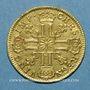 Münzen Louis XIV (1643-1715). Louis d'or au soleil 1710L. Bayonne