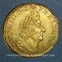 Münzen Louis XIV (1643-1715). Louis d'or aux 4L 1694BB. Strasbourg. Type avec IVD