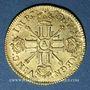 Münzen Louis XIV (1643-1715). Louis d'or aux 8L et aux insignes 1702A. Rouen. Réformation !