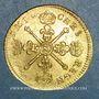 Münzen Louis XIV (1643-1715). Louis d'or aux insignes 1704N Montpellier. Réformation