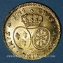Münzen Louis XV (1715-1774). Double louis au bandeau 1744Z. Grenoble. Variante 4/3 !