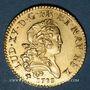 Münzen Louis XV (1715-1774). Louis d'or Mirliton, palmes courtes, 1723R. Orléans