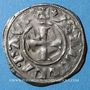 Münzen Orient Latin. Princes d'Achaïe. Isabelle de Villehardouin (1297-1301). Denier tournois