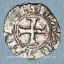 Münzen Orient Latin. Principauté d'Achaïe. Maude de Hainaut (1316-1318). Denier tournois