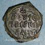 Münzen Orient Latin. Principauté d'Antioche. Roger de Salerne, régent (1112-1119). Follis 3e type