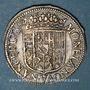 Münzen Duché de Lorraine. Charles IV, 1er règne (1625-1634). Teston au col plat 1627. Nancy