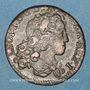 Münzen Duché de Lorraine. Léopold I (1697-1729). Liard 1714. Nancy