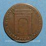 Münzen Anjou. Mairie d'Angers. Fr Grandet. Jeton cuivre 1692