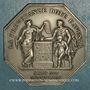 Münzen Assurances. La Nationale. Assurance Vie. Jeton argent 1830. Poinçon : abeille