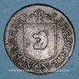 Münzen Besançon. Co-gouverneurs. Claude Antoine II Franchet, seigneur de Cendrey. Jeton cuivre 1669