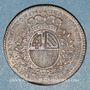 Münzen Bourgogne. Mairie de Dijon. J. Burteur. Jeton cuivre 1748